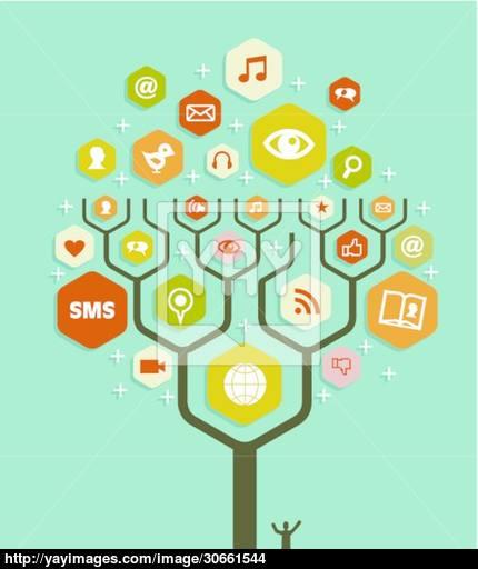 430x512 Web Marketing Business Tree Plan Vector