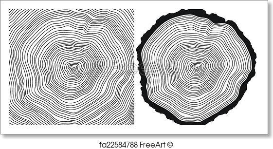 561x306 Free Art Print Of Tree Rings. Vector Tree Rings Background And Saw