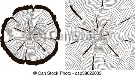 450x253 Tree Growth Rings, Saw Trunk Cuts Vector Illustration. Tree Growth