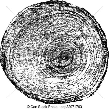 450x448 Tree Rings Saw Cut Tree Trunk Background. Vector Illustration.