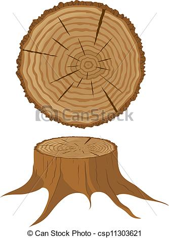 334x470 Cross Section Of Tree And Stump. Cross Section Of Tree And Stump