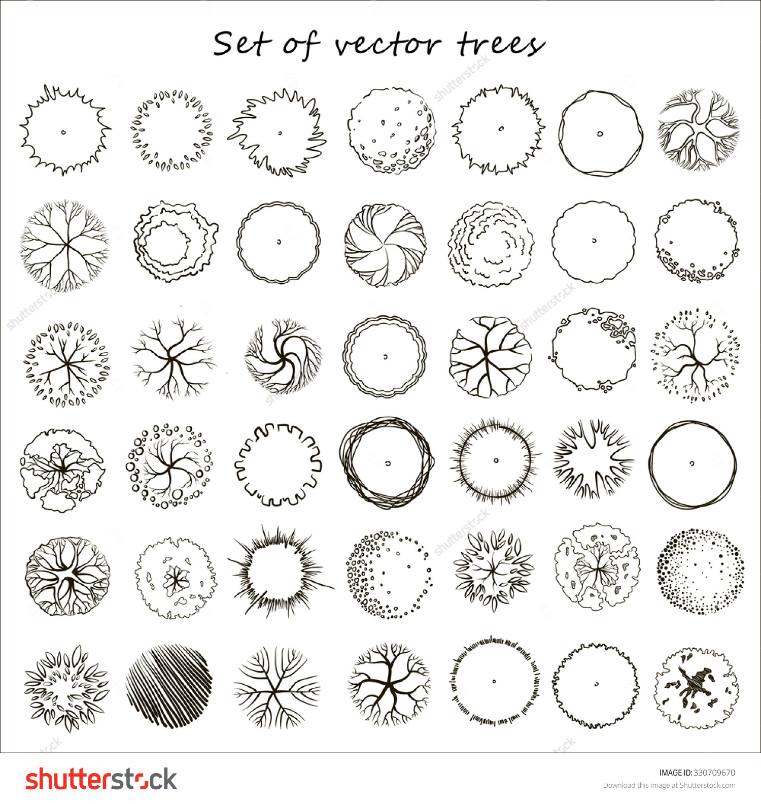 1500x1584 Collection Of Top View Tree Drawing High Quality, Free