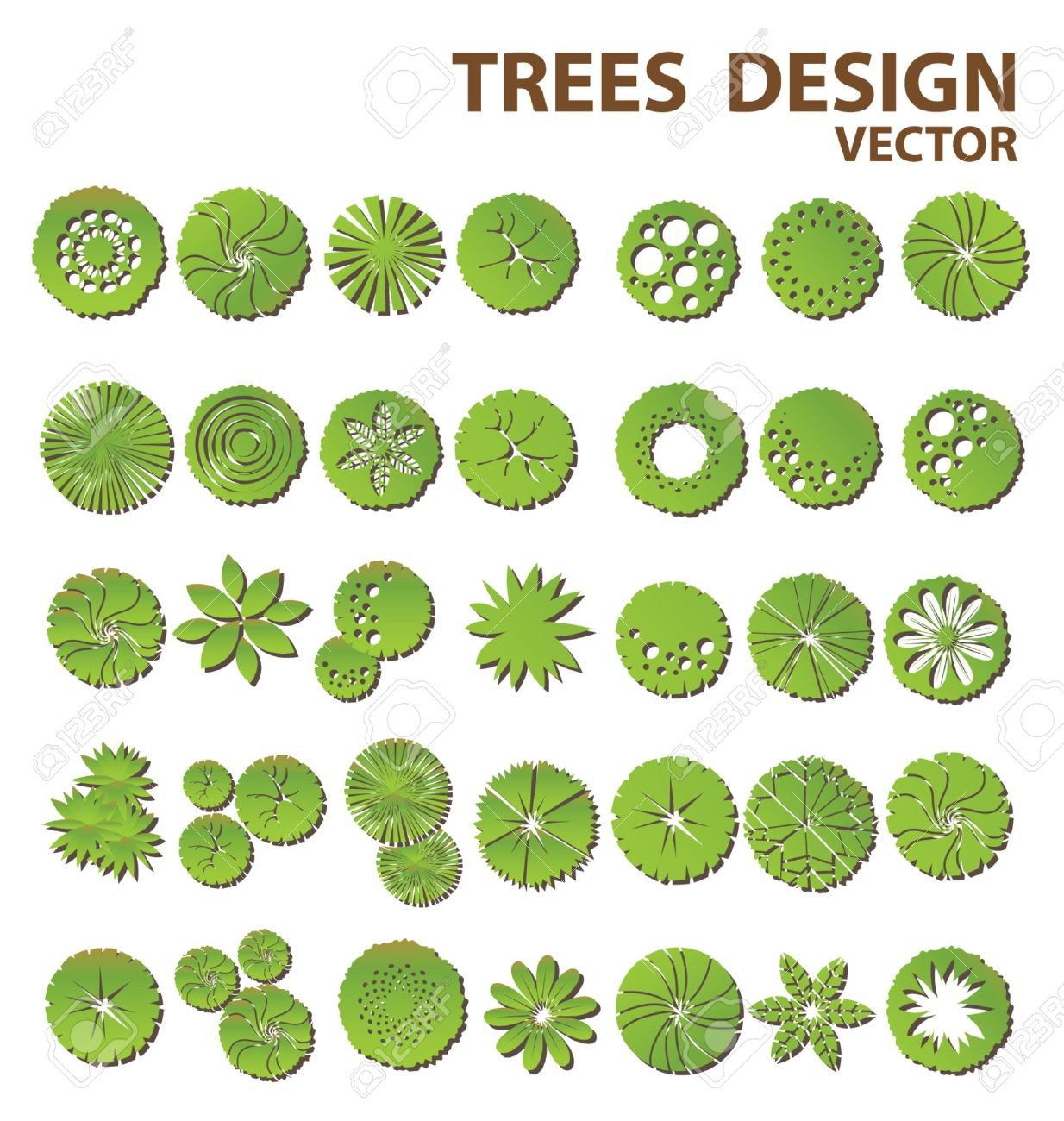 1234x1300 28388683 Trees Top View For Landscape Design Vector Landscaping 3