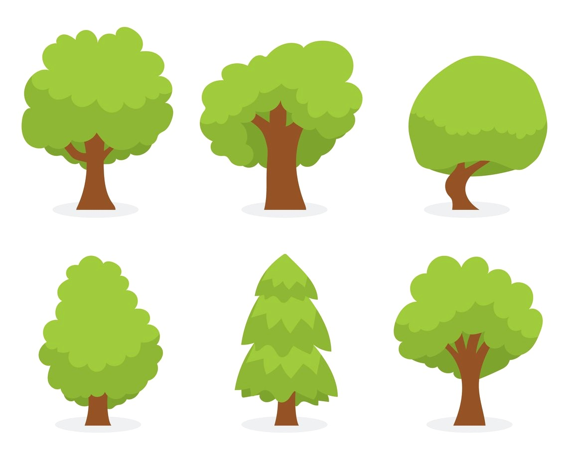 1136x936 Trees Top View Vector 1257559 11