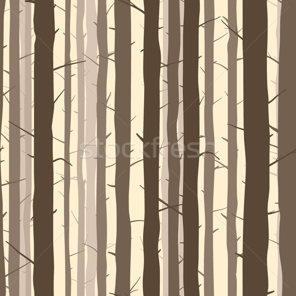 600x600 Seamless Background With Many Tree Trunks. Vector Illustration