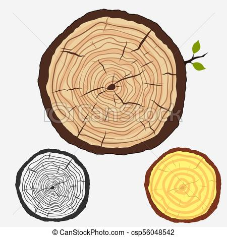 450x470 Tree Rings, Cut Stump With Forest Trees. Vector. Tree Trunk