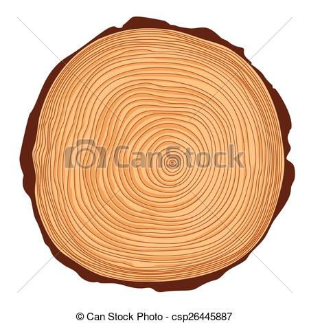 450x470 Vector Saw Crosscut Tree Trunk With Rings.
