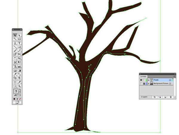 599x451 Create A Vector Tree With Custom Brushes And The Gradient Mesh Tool