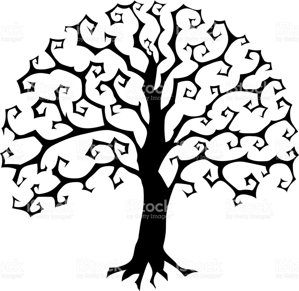 1024x998 Evil Tree Trunk With Branches Clipart Amp Evil Tree Trunk With