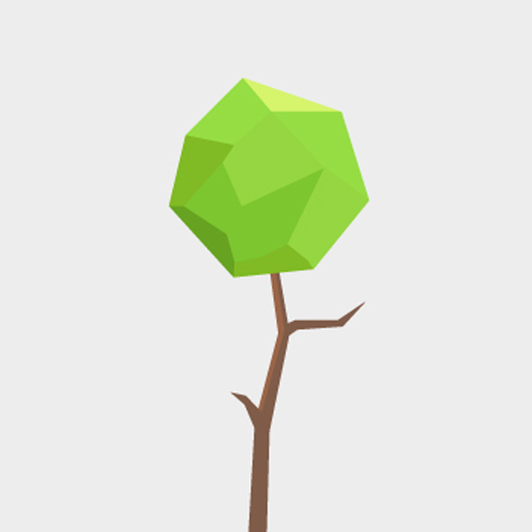 600x600 Free Vector Polygonal Tree Free Vectors Ui Download