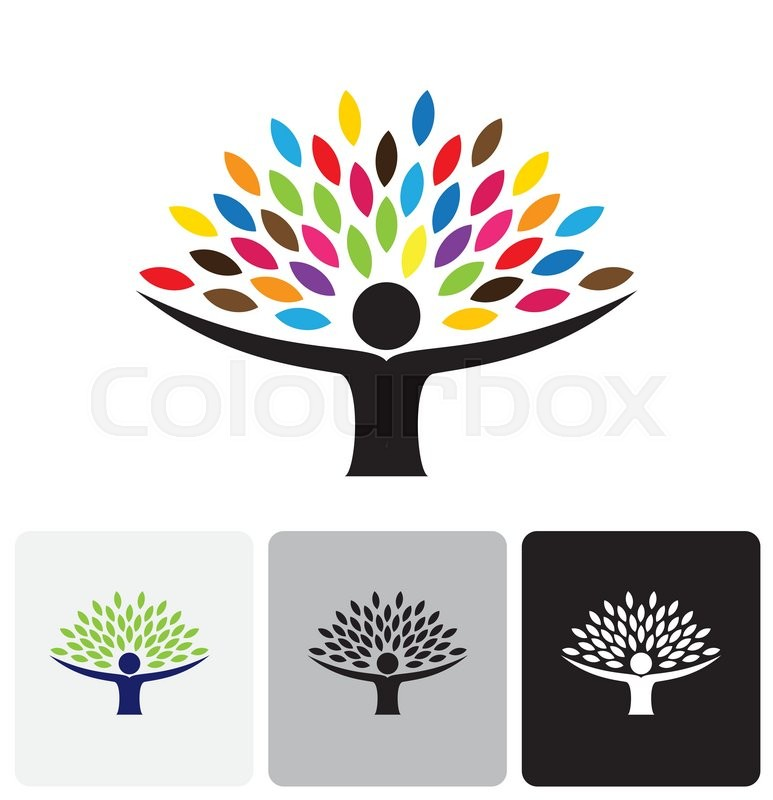 773x800 Human Life Logo Icon Of Abstract People Tree Vector. This Design