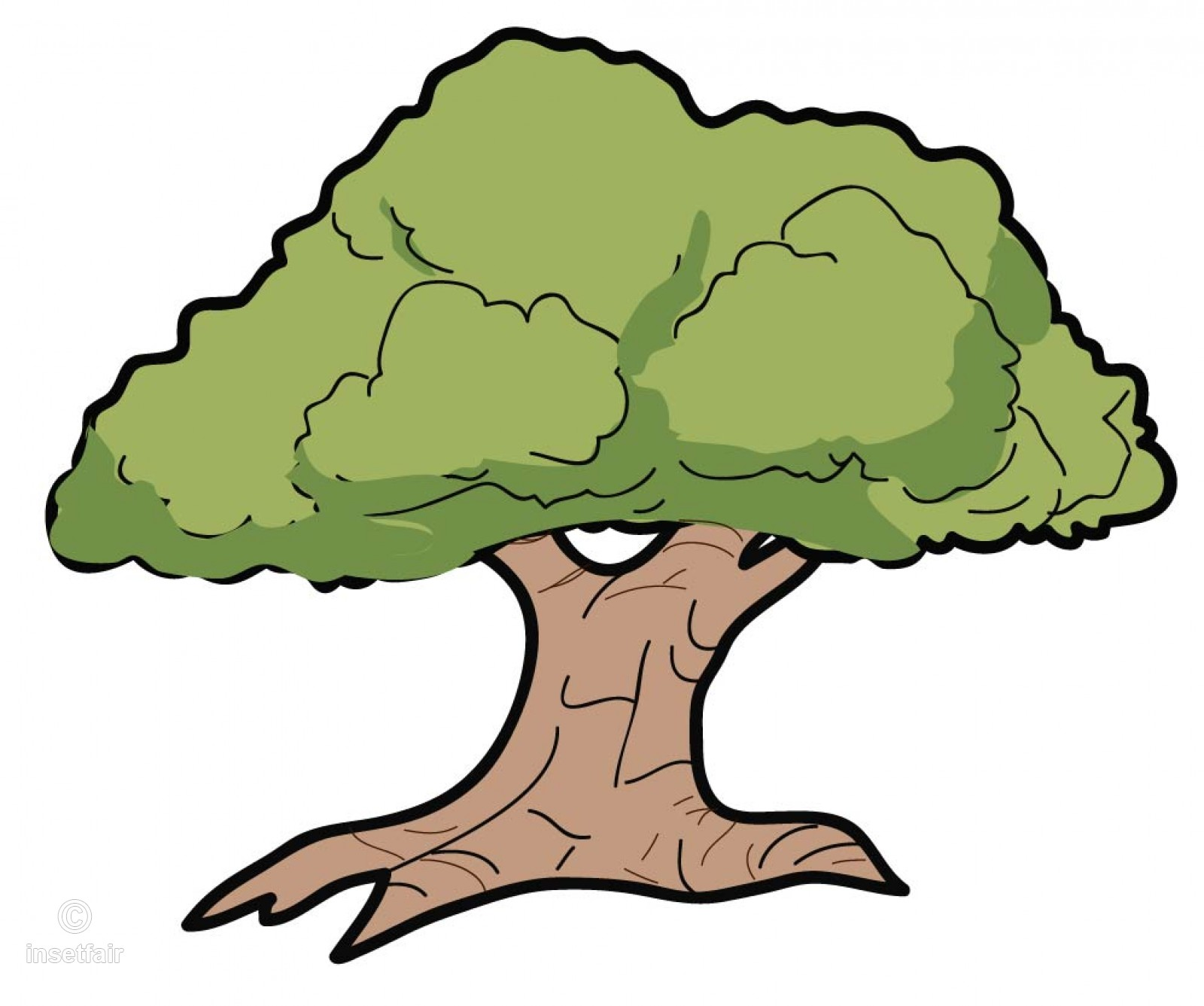 1600x1337 Large Tree Vector Clipart With Adobe Illustrator