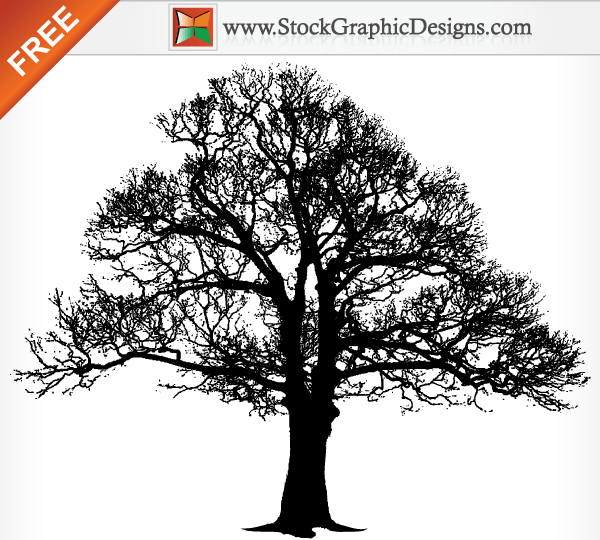 600x540 Tree Silhouette Free Vector Graphics 123freevectors