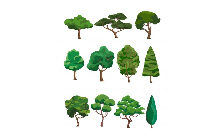 716x443 Trees Vector Pack Forest Tree Vector Free Download
