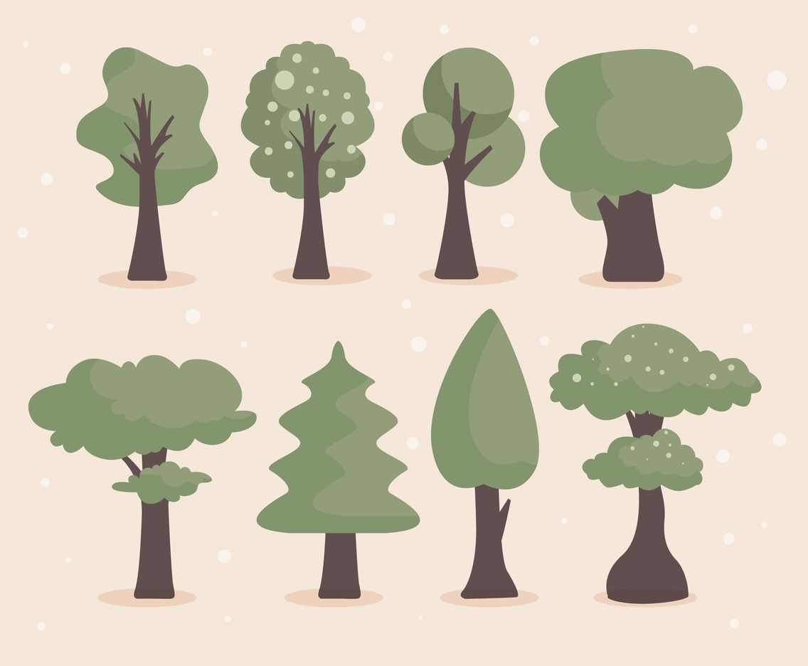 1136x936 Cartoon Tree Vector Vector Art Amp Graphics