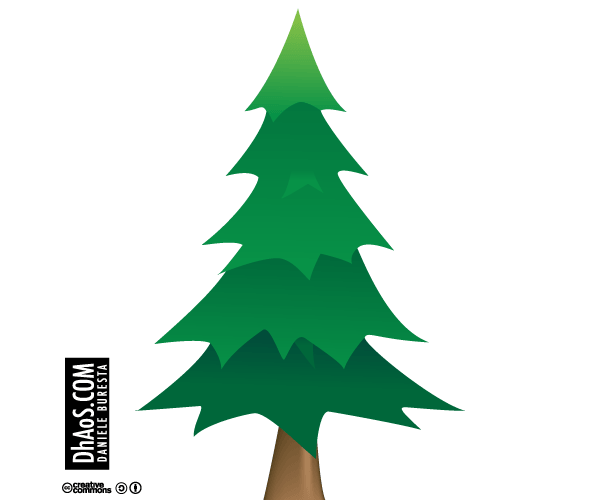 600x500 Christmas Tree Vector Image Free Download 123freevectors