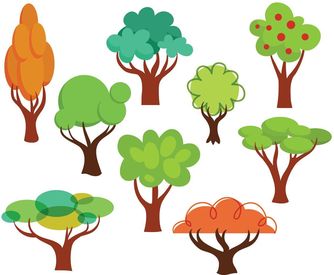 1136x936 Free Cartoon Trees Vectors Vector Art Amp Graphics