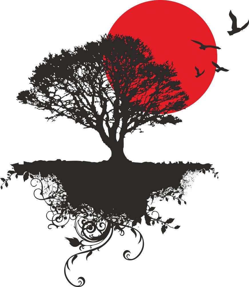 871x1004 Japanese Tree Vector Art Free Vector Download