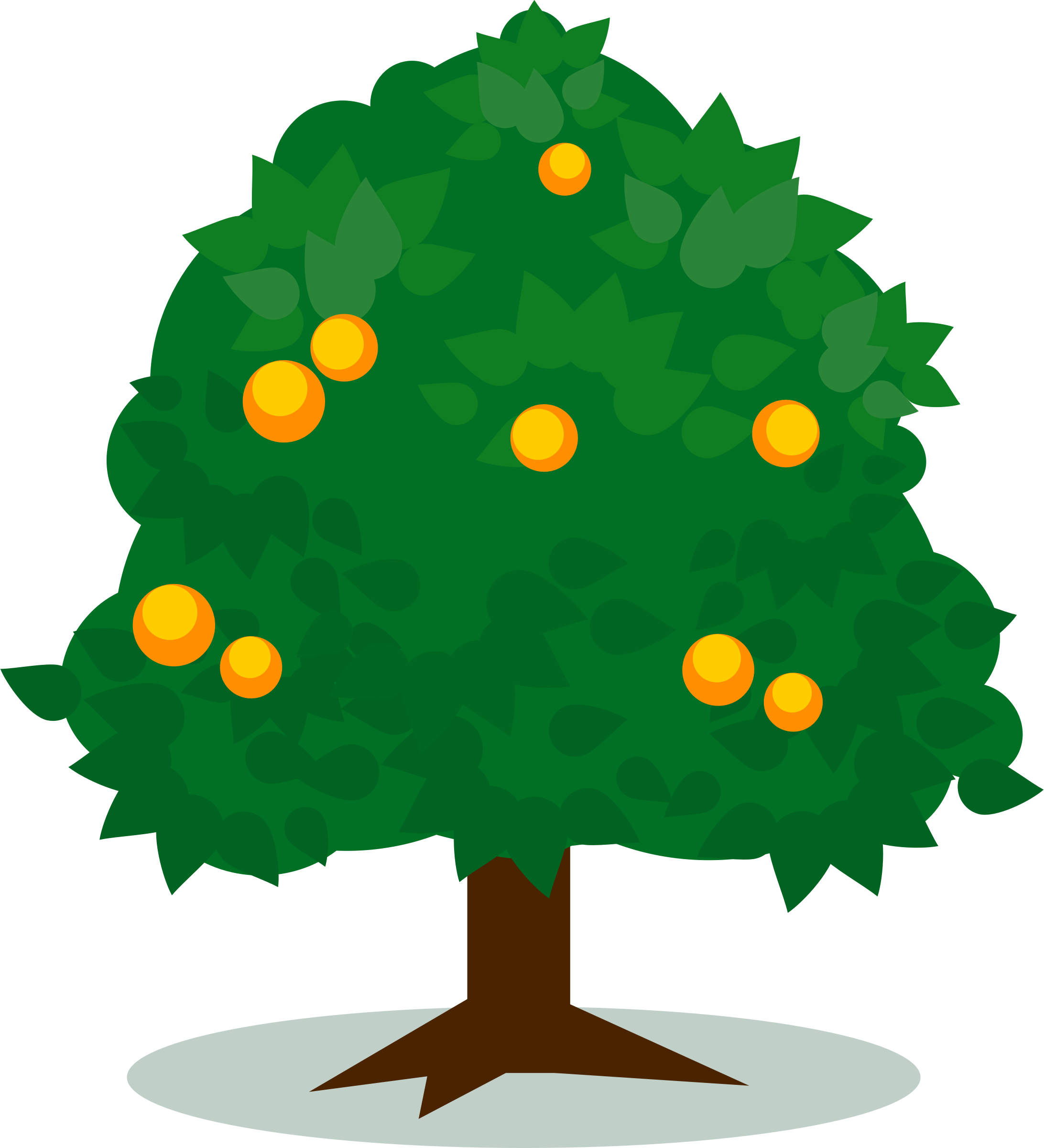 2184x2400 Tree With Fruits Vector Art Image