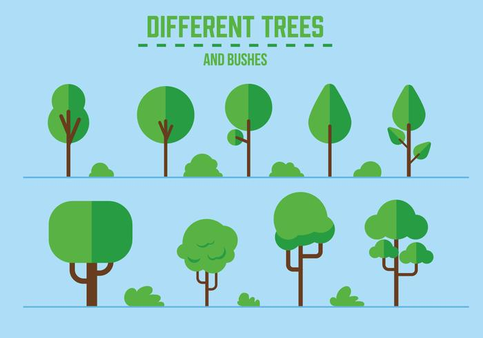 700x490 Vector Trees And Bushes