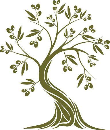 383x451 Olive Tree Vector Art Illustration Tree Vector Art