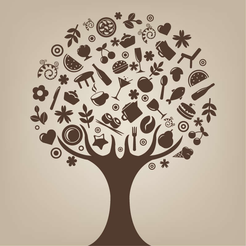 797x797 Abstract Tree Vector Art Free Vector Graphics All Free Web