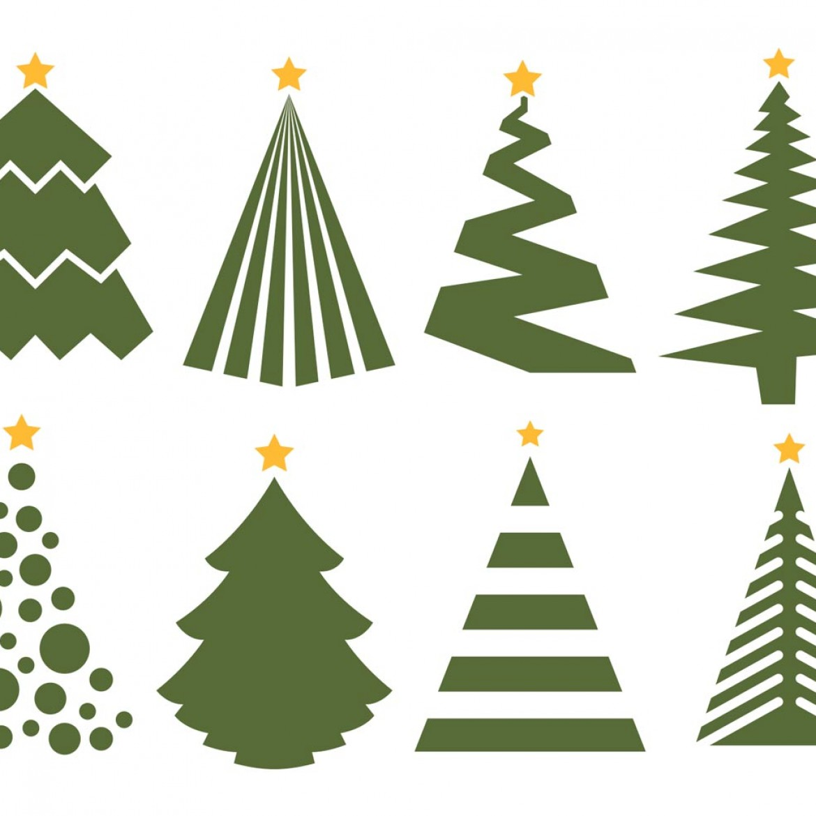 1170x1170 Christmas Tree Vector Free Free Christmas Tree Vector Art 9678