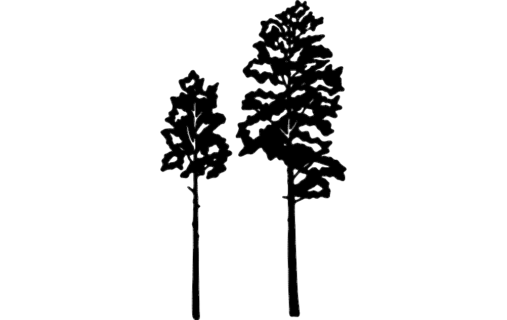 1002x633 Aspen Tree Vector Dxf File Free Download