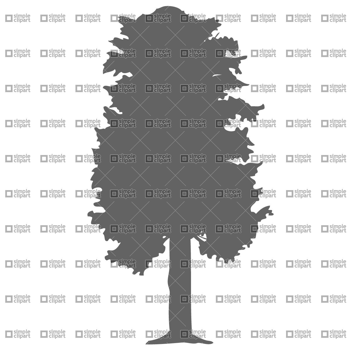 1200x1200 Deciduous Tree Vector Image