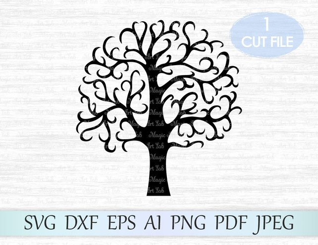 642x496 Tree Svg Family Tree Svg File Tree Clipart Tree Vector Etsy