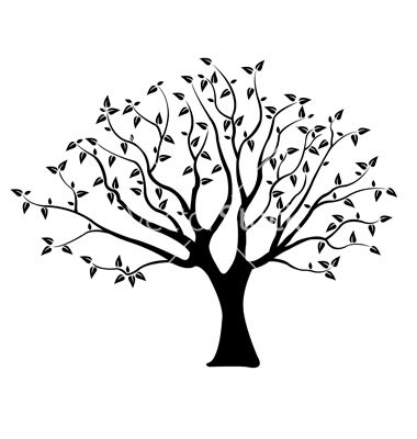 380x400 Tree Vector Art