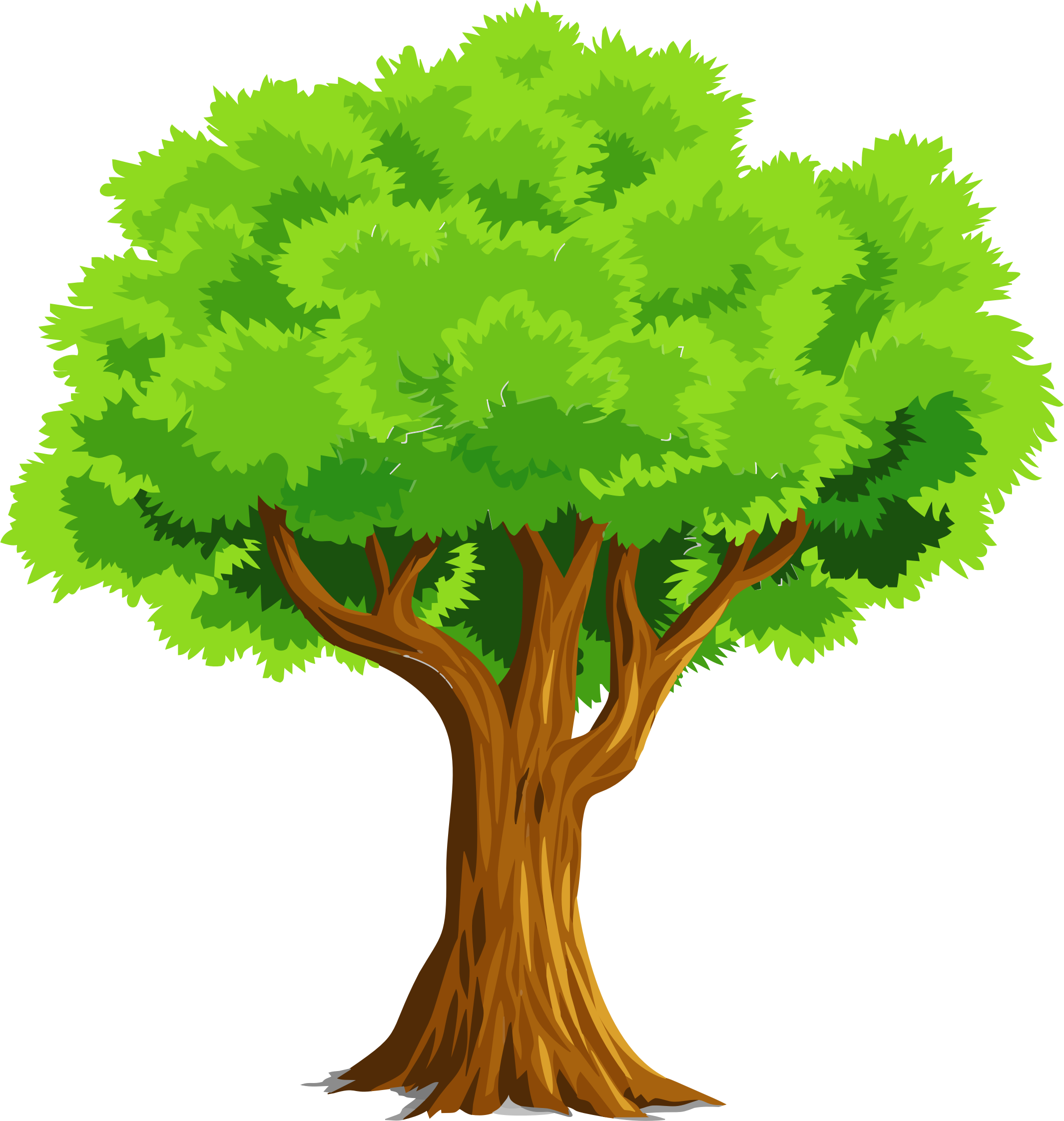 2130x2244 Colorful Natural Tree Vector Clipart Image