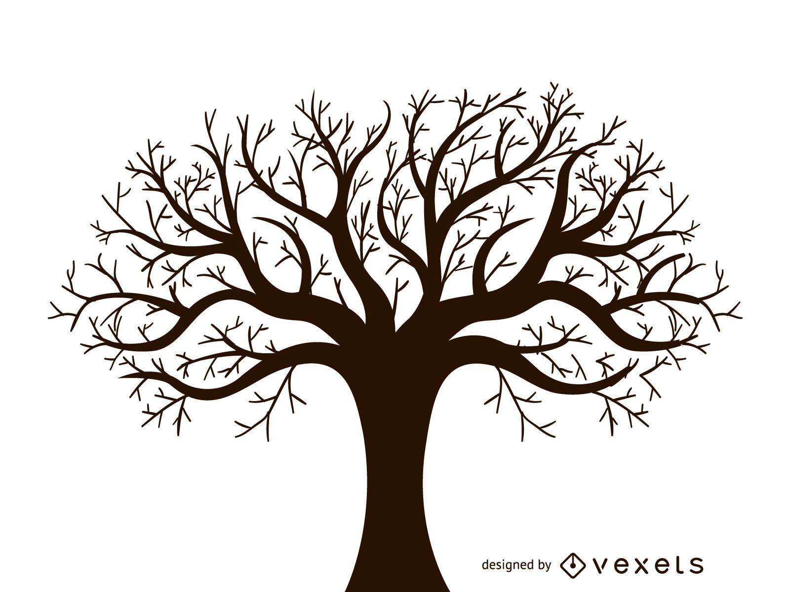 1600x1200 Leafless Autumn Tree Design Vector