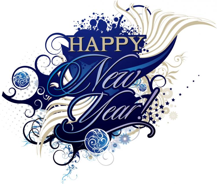 750x634 Happy New Year And Happy Birthday Trend Vector Decoration Free