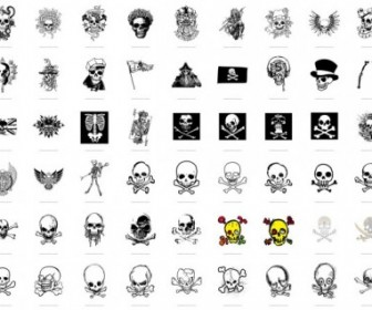 336x280 Trend Vector Series 1 Skull And Crossbones 54 Vector Art