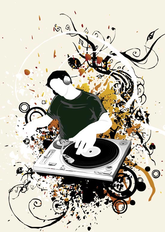 550x774 Dj Trend Vector Design Elements