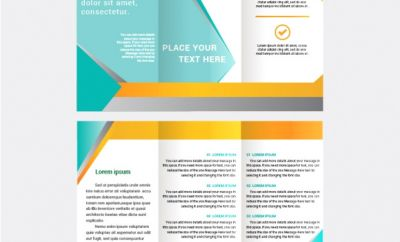 400x242 Free Pamphlet Template Awesome Tri Fold Brochure Vector Template