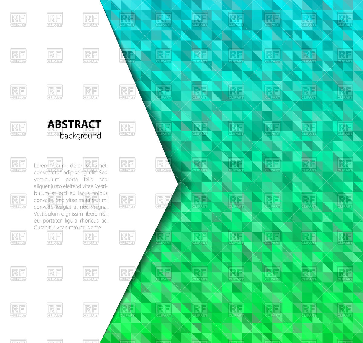 1200x1133 Abstract Green Crystal Triangle Background Vector Image Vector