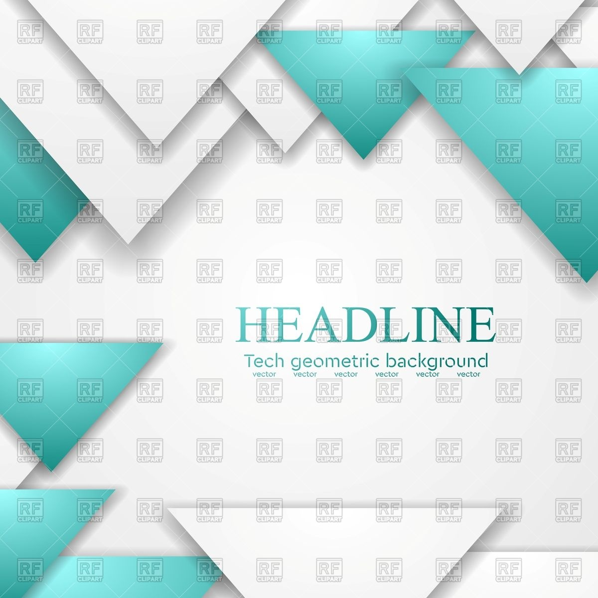 1200x1200 Abstract Turquoise Triangles Corporate Background Vector Image