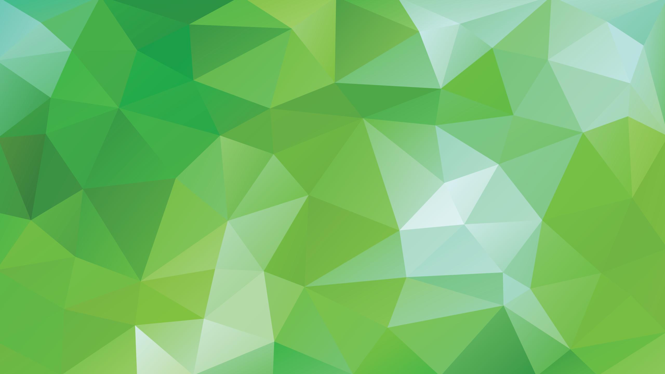 2560x1440 Montessori Green Vector Triangle Background Montessori Live