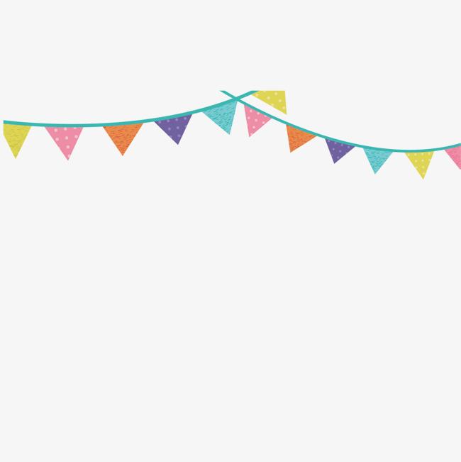 650x651 Vector Color Festivals Triangle Flag Hanging Flag Decoration