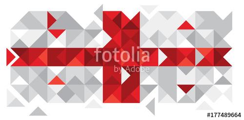 500x247 Vector Georgia Flag, Georgian Flag (Vector Art) Stock Image And