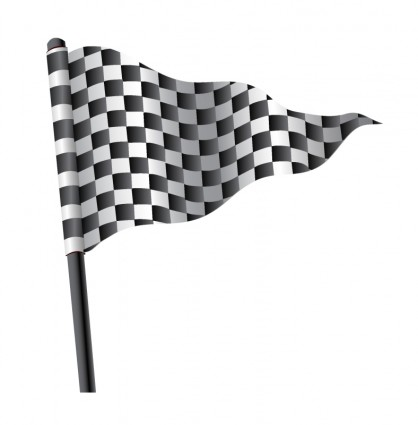 418x425 Waving Triangular Checkered Flag Vector Misc Free Vector Free Download