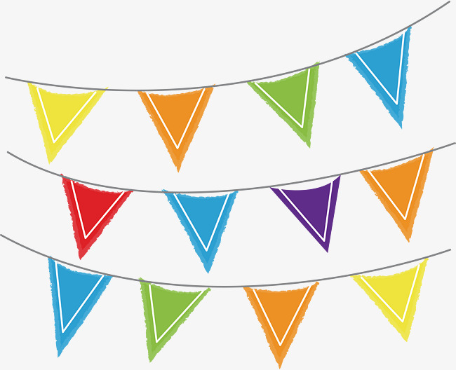 650x528 Colorful Triangle Party Flag, Vector Png, Flags, Party Flags Png