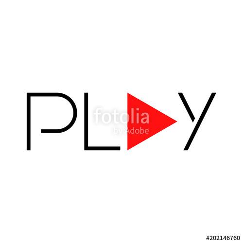 500x500 Tipografia Play Con En Negro Y Rojo Stock Image And