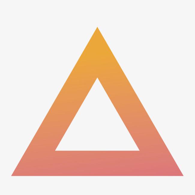 650x651 Vector Red Gradient Triangle, Gradient Vector, Triangle Vector
