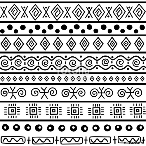 500x500 Seamless Pattern In Ethnic Style. Ornamental Element African Theme