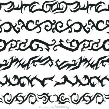 360x360 Tribal Border Design Tribal Border Design Hand Drawn Vector