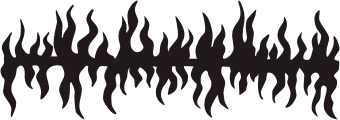 340x120 Tribal Flame. Free Vector Clipart Sample For Vehicle Graphics And