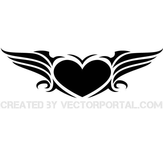660x660 Winged Heart Vector Graphics